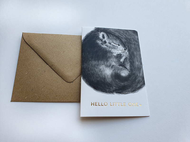 Hello-little-one-wenskaart-folie-illustratie2